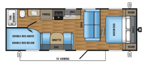 Jayco 26BHC (Cloth Interior) - RV Trailer View