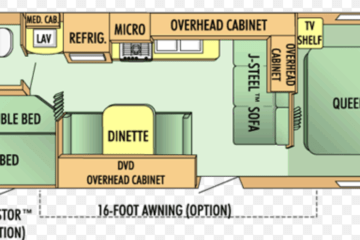 Jayco 27BH (Cloth Interior) - RV Trailer Floor Plan